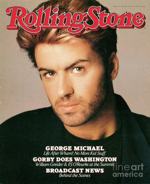 Michael Photograph - Rolling Stone Cover - Volume #518 - 1/28/1988 - George Michael by Matthew Rolston