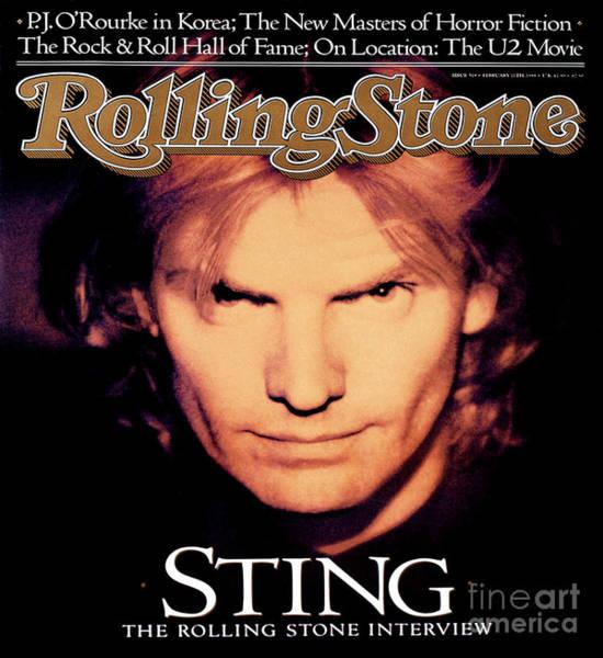 Wall Art - Photograph - Rolling Stone Cover - Volume #519 - 2/11/1988 - Sting by Matt Mahurin