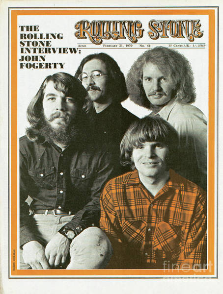 Wall Art - Photograph - Rolling Stone Cover - Volume #52 - 2/21/1970 - Creedence Clearwater Revival by Baron Wolman