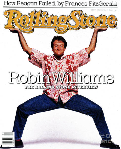 William Photograph - Rolling Stone Cover - Volume #520 - 2/25/1988 - Robin Williams by Bonnie Schiffman
