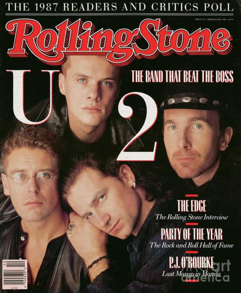 U2 Photograph - Rolling Stone Cover - Volume #521 - 3/10/1988 - U2 by Matthew Rolston