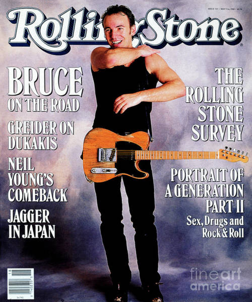 Wall Art - Photograph - Rolling Stone Cover - Volume #525 - 5/5/1988 - Bruce Springsteen by Neal Preston
