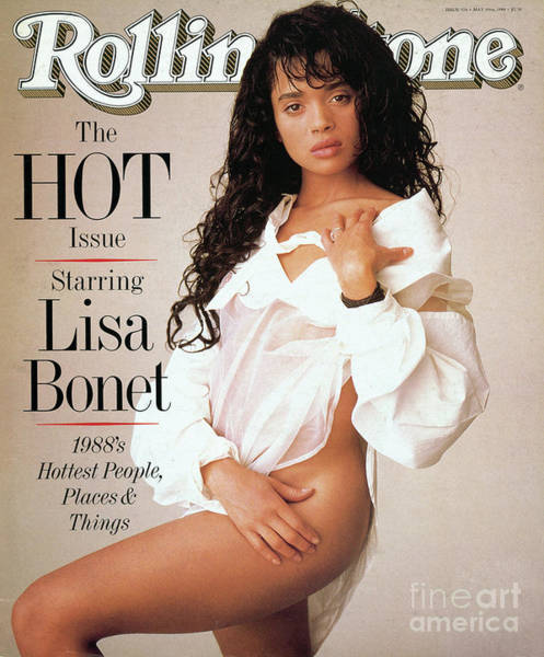 Wall Art - Photograph - Rolling Stone Cover - Volume #526 - 5/19/1988 - Lisa Bonet by Matthew Rolston