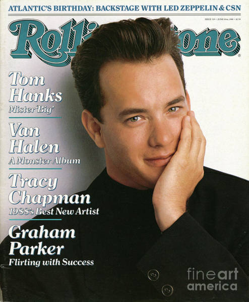 Tom Wall Art - Photograph - Rolling Stone Cover - Volume #529 - 6/30/1988 - Tom Hanks by Herb Ritts
