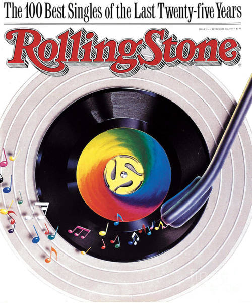 Rolling Stone Cover - Volume #534 - 9/8/1988 - 100 Greatest Singles Art Print by Steve Pietzsch