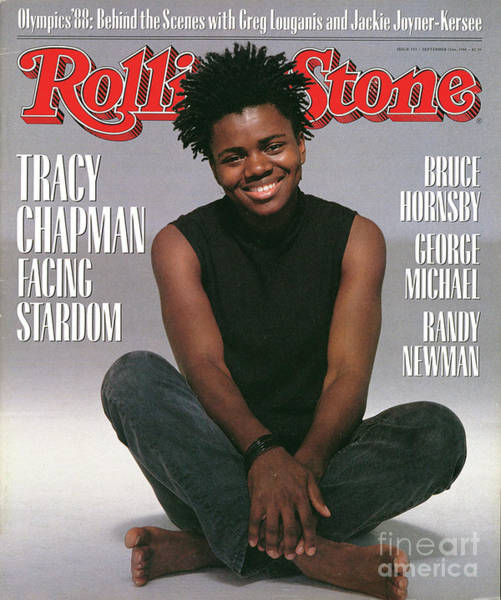 Wall Art - Photograph - Rolling Stone Cover - Volume #535 - 9/22/1988 - Tracy Chapman by Herb Ritts