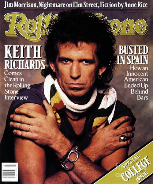 Watson Photograph - Rolling Stone Cover - Volume #536 - 10/6/1988 - Keith Richards by Albert Watson
