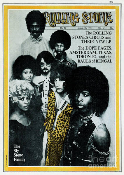 Wall Art - Photograph - Rolling Stone Cover - Volume #54 - 3/19/1970 - Sly And The Family Stone by Stephen Paley