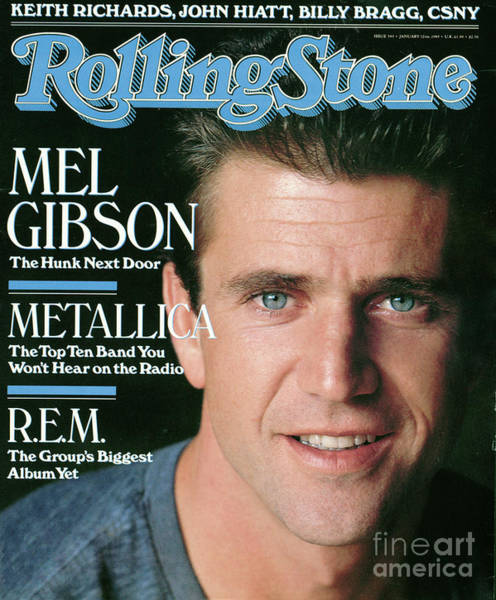 Wall Art - Photograph - Rolling Stone Cover - Volume #543 - 1/12/1989 - Mel Gibson by Herb Ritts
