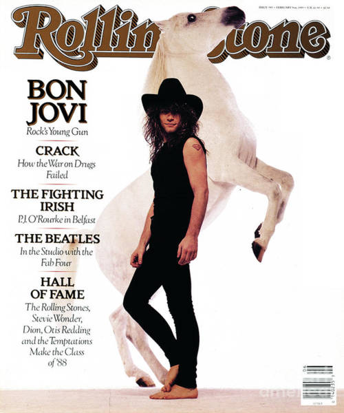 Wall Art - Photograph - Rolling Stone Cover - Volume #545 - 2/9/1989 - Jon Bon Jovi by Timothy White