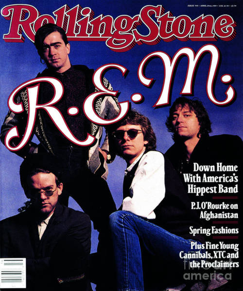 Wall Art - Photograph - Rolling Stone Cover - Volume #550 - 4/20/1989 - Rem by Timothy White