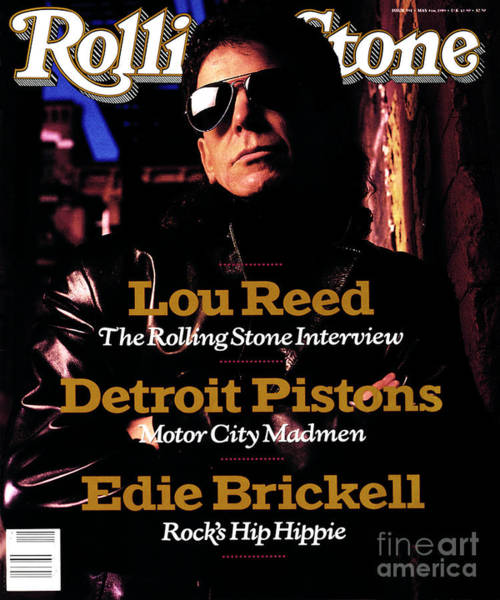Wall Art - Photograph - Rolling Stone Cover - Volume #551 - 5/4/1989 - Lou Reed by Mark Seliger