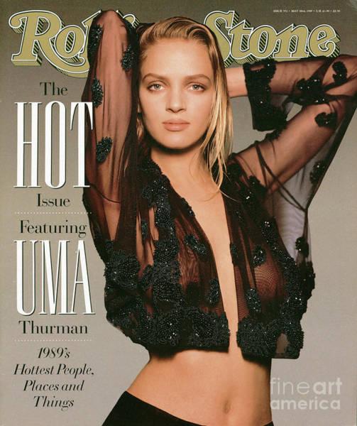Wall Art - Photograph - Rolling Stone Cover - Volume #552 - 5/18/1989 - Uma Thurman by Matthew Rolston