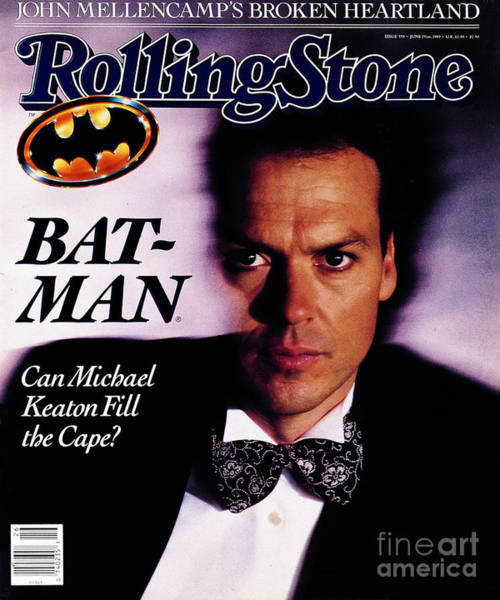 Michael Photograph - Rolling Stone Cover - Volume #555 - 6/29/1989 - Michael Keaton by Bonnie Schiffman