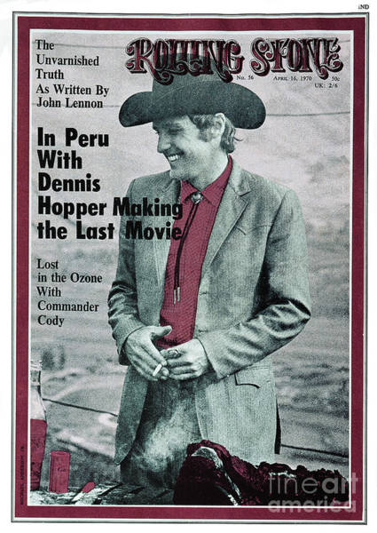 Wall Art - Photograph - Rolling Stone Cover - Volume #56 - 4/16/1970 - Dennis Hopper by Michael Anderson Jr.