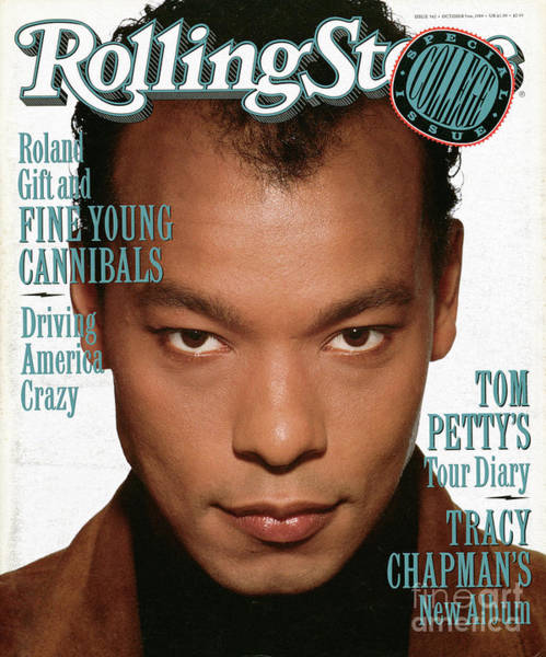 Gift Photograph - Rolling Stone Cover - Volume #562 - 10/5/1989 - Roland Gift by Andrew MacPherson