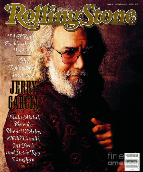 Wall Art - Photograph - Rolling Stone Cover - Volume #566 - 11/30/1989 - Jerry Garcia by William Coupon