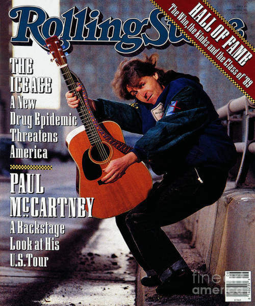 Wall Art - Photograph - Rolling Stone Cover - Volume #571 - 2/8/1990 - Paul Mccartney by Timothy White