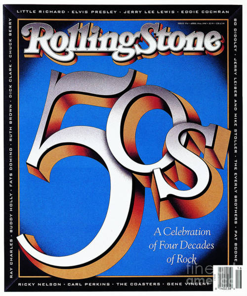 Wall Art - Photograph - Rolling Stone Cover - Volume #576 - 4/19/1990 - The 50's by Terry Allen