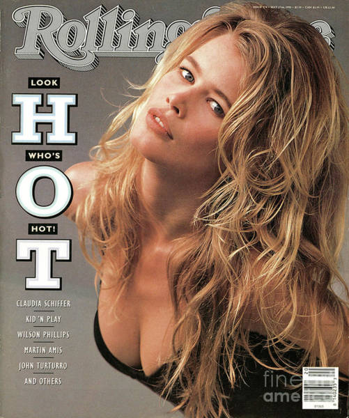 Wall Art - Photograph - Rolling Stone Cover - Volume #578 - 5/17/1990 - Claudia Schiffer by Herb Ritts