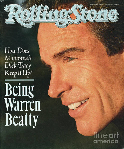 Wall Art - Photograph - Rolling Stone Cover - Volume #579 - 5/31/1990 - Warren Beatty by Herb Ritts