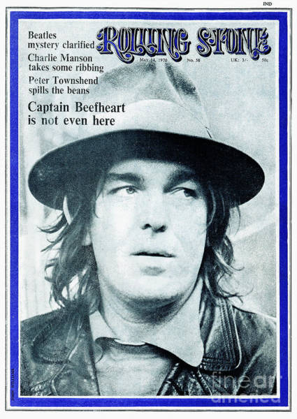 Wall Art - Photograph - Rolling Stone Cover - Volume #58 - 5/14/1970 - Captain Beefheart by John Williams