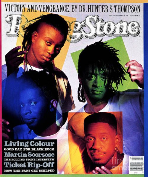 Colour Photograph - Rolling Stone Cover - Volume #590 - 11/1/1990 - Living Colour by Mark Seliger
