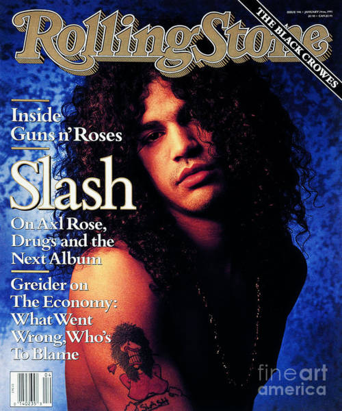 Musician Wall Art - Photograph - Rolling Stone Cover - Volume #596 - 1/24/1991 - Slash by Mark Seliger