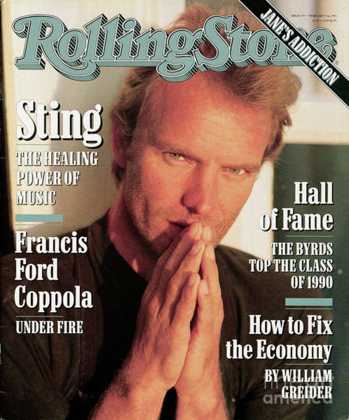 Wall Art - Photograph - Rolling Stone Cover - Volume #597 - 2/7/1991 - Sting by Herb Ritts