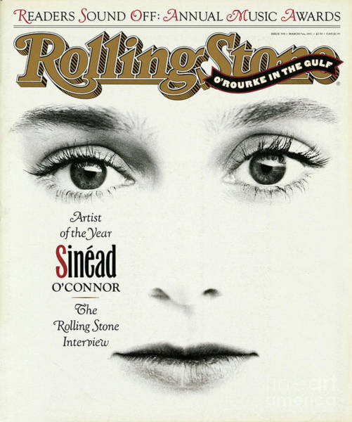 Wall Art - Photograph - Rolling Stone Cover - Volume #599 - 3/7/1991 - Sinead O'connor by Herb Ritts
