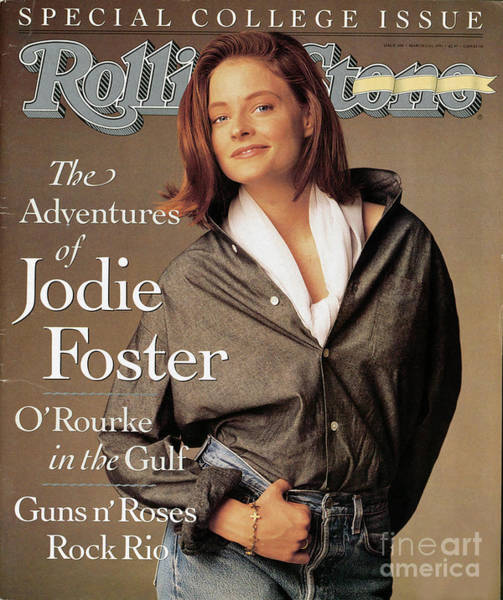 Wall Art - Photograph - Rolling Stone Cover - Volume #600 - 3/21/1991 - Jodie Foster by Matthew Rolston
