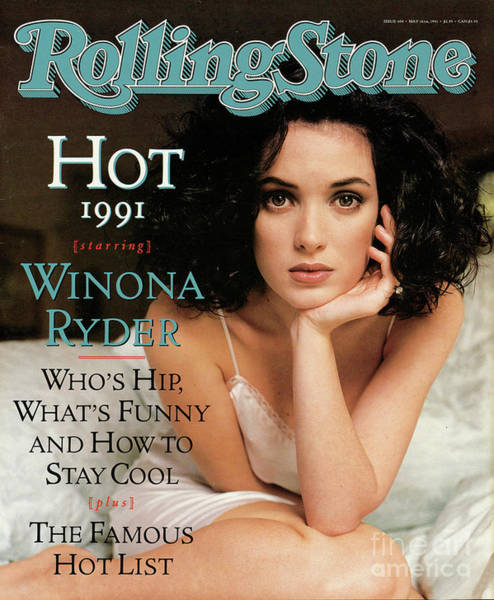 Winona Photograph - Rolling Stone Cover - Volume #604 - 5/16/1991 - Winona Ryder by Herb Ritts