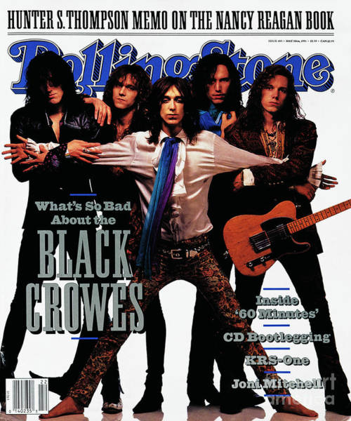 Roll Photograph - Rolling Stone Cover - Volume #605 - 5/30/1991 - Black Crowes by Mark Seliger