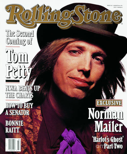 Wall Art - Photograph - Rolling Stone Cover - Volume #610 - 8/8/1991 - Tom Petty by Mark Seliger