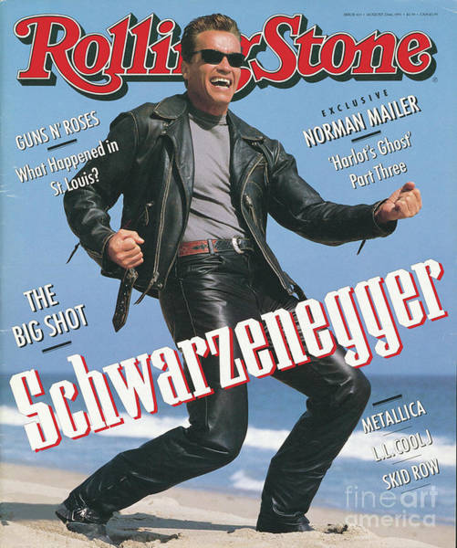 Wall Art - Photograph - Rolling Stone Cover - Volume #611 - 8/22/1991 - Arnold Schwarzenegger by Herb Ritts