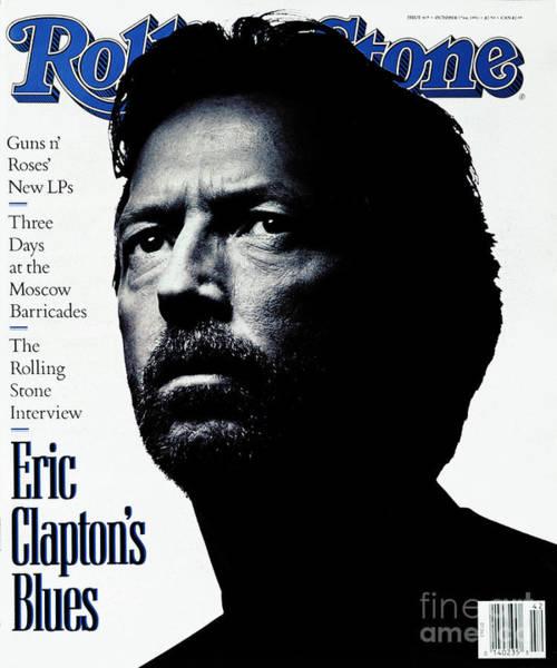 Watson Photograph - Rolling Stone Cover - Volume #615 - 10/17/1991 - Eric Clapton by Albert Watson