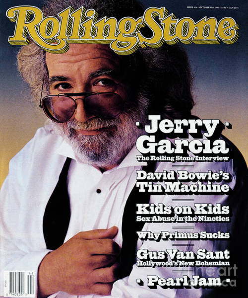 Wall Art - Photograph - Rolling Stone Cover - Volume #616 - 10/31/1991 - Jerry Garcia by Mark Seliger