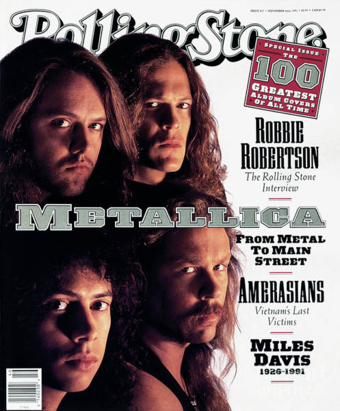 Wall Art - Photograph - Rolling Stone Cover - Volume #617 - 11/14/1991 - Metallica by Mark Seliger