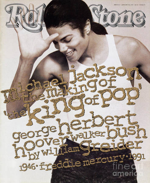 Roll Photograph - Rolling Stone Cover - Volume #621 - 1/9/1992 - Michael Jackson by Herb Ritts
