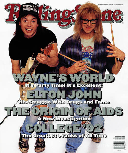 Wall Art - Photograph - Rolling Stone Cover - Volume #626 - 3/19/1992 - Mike Myers And Dana Carvey by Bonnie Schiffman