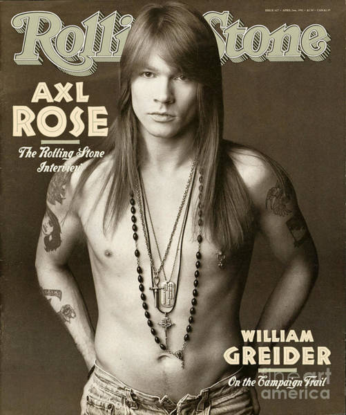 Musician Wall Art - Photograph - Rolling Stone Cover - Volume #627 - 4/2/1992 - Axl Rose by Herb Ritts