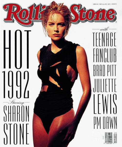 Sharon Wall Art - Photograph - Rolling Stone Cover - Volume #630 - 5/14/1992 - Sharon Stone by Albert Watson