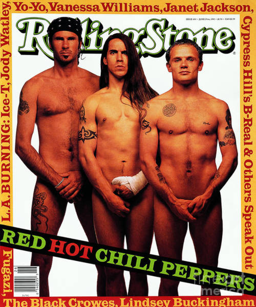 Wall Art - Photograph - Rolling Stone Cover - Volume #633 - 6/23/1992 - Red Hot Chili Peppers  by Mark Seliger