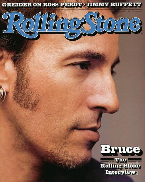 Wall Art - Photograph - Rolling Stone Cover - Volume #636 - 8/6/1992 - Bruce Springsteen by Herb Ritts