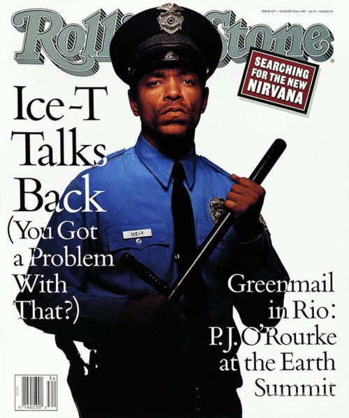 Rolling Stone Cover - Volume #637 - 8/20/1992 - Ice-t Art Print