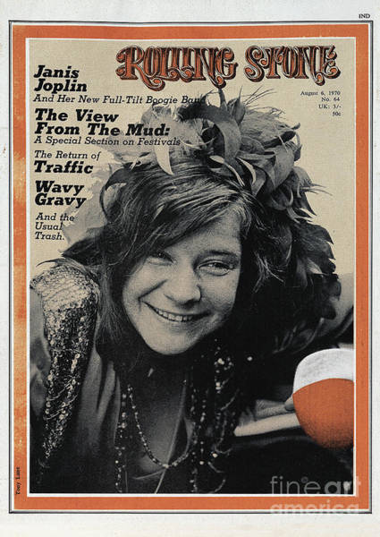 Wall Art - Photograph - Rolling Stone Cover - Volume #64 - 8/6/1970 - Janis Joplin by Tony Lane