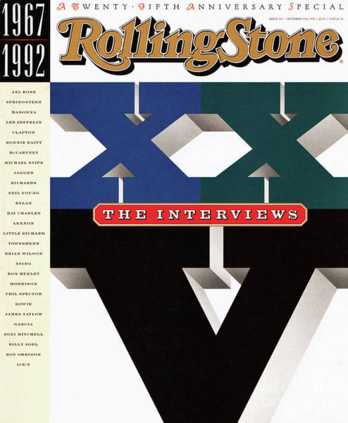 Anniversary Photograph - Rolling Stone Cover - Volume #641 - 10/15/1992 - The Twentieth-fifth Anniversary: The Interviews by