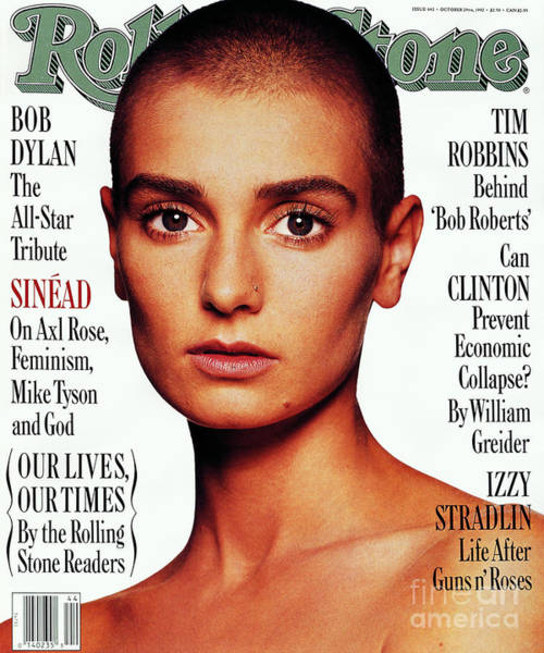 Watson Photograph - Rolling Stone Cover - Volume #642 - 10/29/1992 - Sinead O'connor by Albert Watson