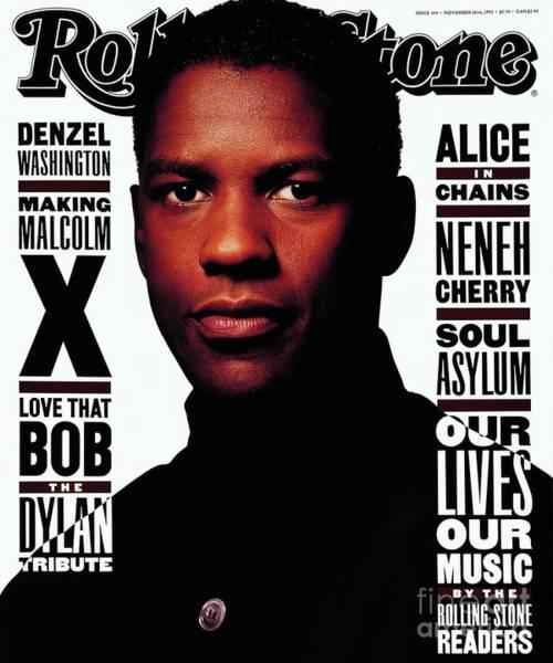 Washington Photograph - Rolling Stone Cover - Volume #644 - 11/26/1992 - Denzel Washington by Albert Watson