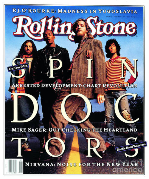 Spin Wall Art - Photograph - Rolling Stone Cover - Volume #647 - 1/7/1993 - Spin Doctors by Mark Seliger